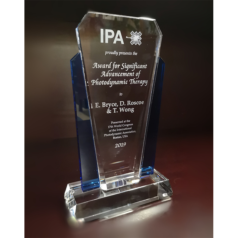 Dr. Elizabeth Bryce, Dr. Diane Roscoe and Dr. Titus Wong of Vancouver Coastal Health received the International Photodynamic Association's 2019 Significant Advancement of Photodynamic Therapy Award for being the first hospital group to adopt photodynamic therapy (PDT) for nasal decolonization of pre-surgical patients.